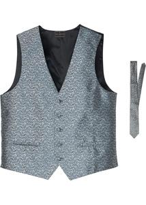 Anzugweste mit Krawatte (2-tlg.Set)