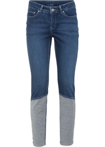 Skinny-Jeans aus Bio-Baumwolle in Patch-Optik