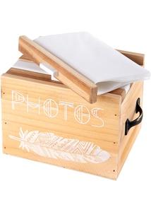 Fotoaufbewahrungsbox aus Holz