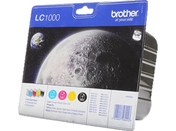 BROTHER LC-1000 Tintenpatrone mehrfarbig (LC-1000VALBPDR)