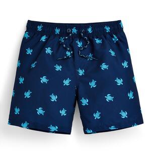 Blaue Shorts mit Schildkrötenmuster (kleine Jungen)