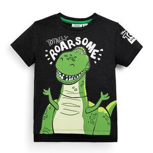 """Schwarzes, beflocktes """"Toy Story Rex"""" T-Shirt (kleine Jungen)"""