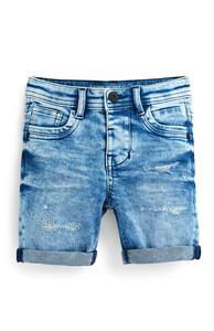 Ausgewaschene Skinny Jeansshorts im Used-Look (kleine Jungen)
