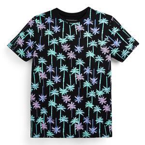 Schwarzes T-Shirt mit Palmenmuster (Teeny Boys)