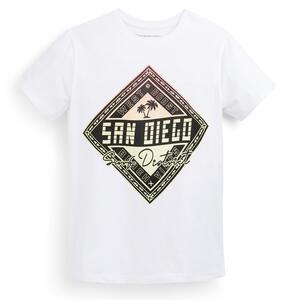Weißes T-Shirt mit Print (Teeny Boys)