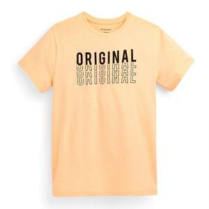 Pfirsichfarbenes T-Shirt mit Slogan (Teeny Boys)