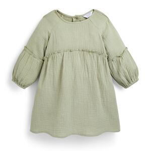 Grünes, gesmoktes Kleid (kleine Mädchen)