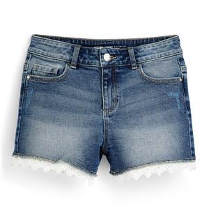 Blaue Jeansshorts mit Häkelsaum (Teeny Girls)