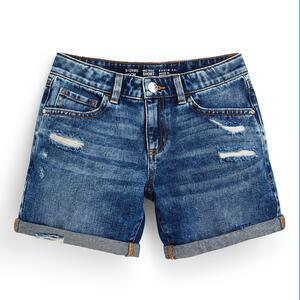 Blaue Jeansshorts im Used-Look (Teeny Girls)