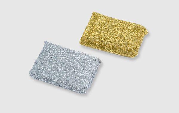 Lurexschwamm gold & silber