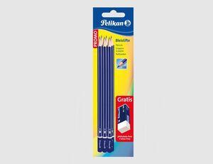 Pelikan 6 Bleistifte + Radierer AL30