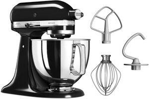 KitchenAid Küchenmaschine Artisan 5KSM125EOB Qnyx Schwarz, 300 W, 4,8 l Schüssel