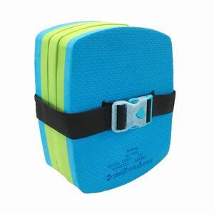 Schwimmgürtel mit abnehmbarem Auftriebselement Kinder 30-60kg blau/grün