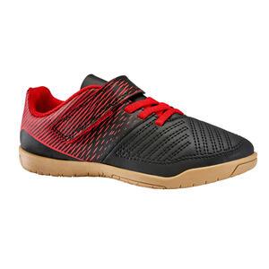 Hallenschuhe Futsal 100 Kinder schwarz/rot