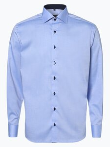 Eterna Modern Fit Herren Hemd Bügelfrei blau Gr. 38