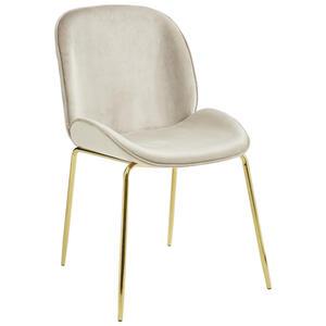 Livetastic Stuhl samt taupe goldfarben  Adriano -Trend-