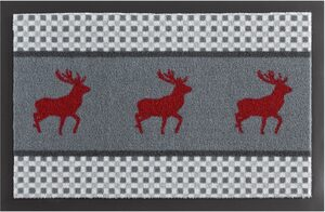 Fußmatte »Hirsch Deer«, HANSE Home, rechteckig, Höhe 7 mm, Schmutzfangmatte, rutschhemmend beschichtet