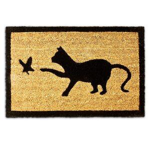 Fußmatte »Fußmatte 'Katze' Kokos 40x60 cm«, relaxdays, Höhe 15 mm