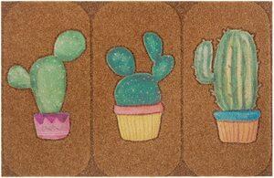 Fußmatte »Kaktus«, my home, rechteckig, Höhe 10 mm, Schmutzfangmatte In- und Outdoor geeignet, Kokos-Optik