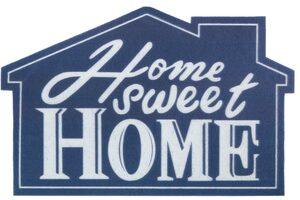 Fußmatte »Home sweet Home Haus«, my home, Motivform, Höhe 6 mm, Türmatte, Schmutzfangmatte, Türvorleger, mit Spruch, In- und Outdoor geeignet