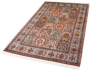 Seidenteppich »R.Taj 9571«, Kayoom, rechteckig, Höhe 10 mm, Einzelstück mit Zertifikat, Wohnzimmer