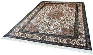 Seidenteppich »Kashan 12520«, Kayoom, rechteckig, Höhe 10 mm, Einzelstück mit Zertifikat, Wohnzimmer