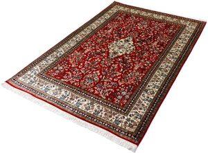 Seidenteppich »Kashan 2997«, Kayoom, rechteckig, Höhe 10 mm, Einzelstück mit Zertifikat, Wohnzimmer