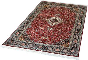Seidenteppich »Kashan 5099«, Kayoom, rechteckig, Höhe 10 mm, Einzelstück mit Zertifikat, Wohnzimmer