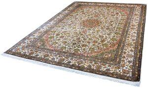 Seidenteppich »Kashan 12013«, Kayoom, rechteckig, Höhe 10 mm, Einzelstück mit Zertifikat, Wohnzimmer