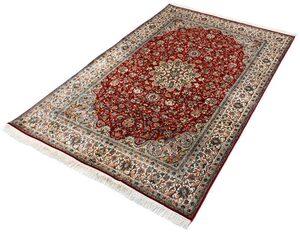 Seidenteppich »Kashan 8276«, Kayoom, rechteckig, Höhe 10 mm, Einzelstück mit Zertifikat, Wohnzimmer