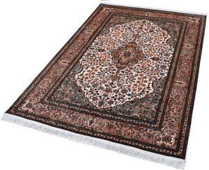 Seidenteppich »Kashan 8317«, Kayoom, rechteckig, Höhe 10 mm, Einzelstück mit Zertifikat, Wohnzimmer