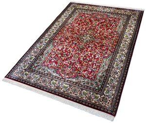 Seidenteppich »Kashan 12364«, Kayoom, rechteckig, Höhe 10 mm, Einzelstück mit Zertifikat, Wohnzimmer