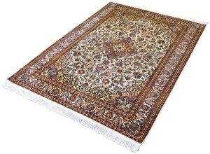Seidenteppich »Kashan 9577«, Kayoom, rechteckig, Höhe 10 mm, Einzelstück mit Zertifikat, Wohnzimmer