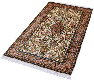 Seidenteppich »Kashan 999x13«, Kayoom, rechteckig, Höhe 10 mm, Einzelstück mit Zertifikat, Wohnzimmer