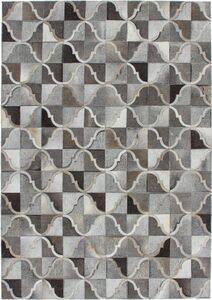 Fellteppich »Lavish 310«, Kayoom, rechteckig, Höhe 8 mm, Patchwork-echtes Leder-Fell, Wohnzimmer