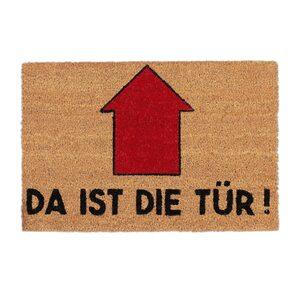 Fußmatte »Fußmatte Spruch Da ist die Tür«, relaxdays, Höhe 15 mm