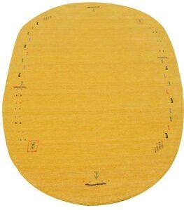 Wollteppich »GABBEH FEIN FENTH«, morgenland, oval, Höhe 18 mm, reine Schurwolle bunte Bordüre, Wohnzimmer