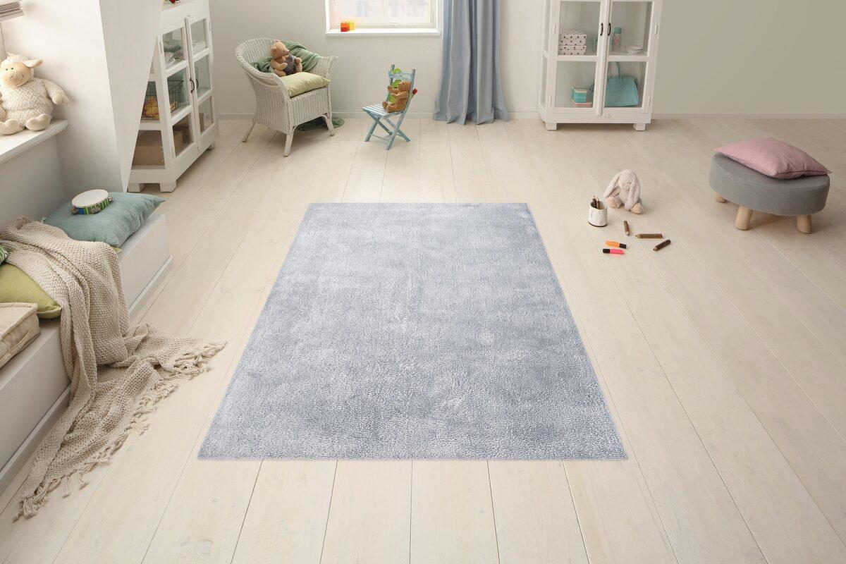 Bild 4 von Hochflor-Teppich »Carla«, Lüttenhütt, rechteckig, Höhe 40 mm, super soft, pastellfarben, Wohnzimmer