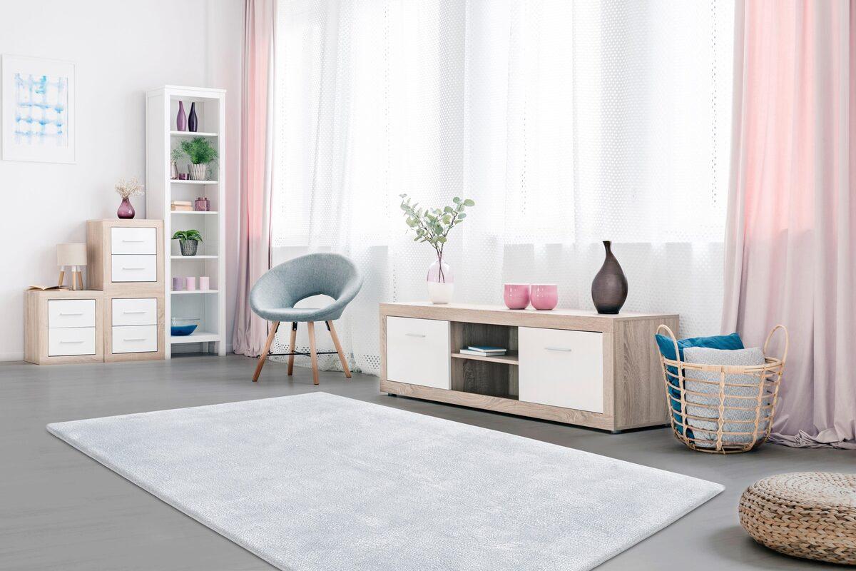 Bild 5 von Hochflor-Teppich »Carla«, Lüttenhütt, rechteckig, Höhe 40 mm, super soft, pastellfarben, Wohnzimmer