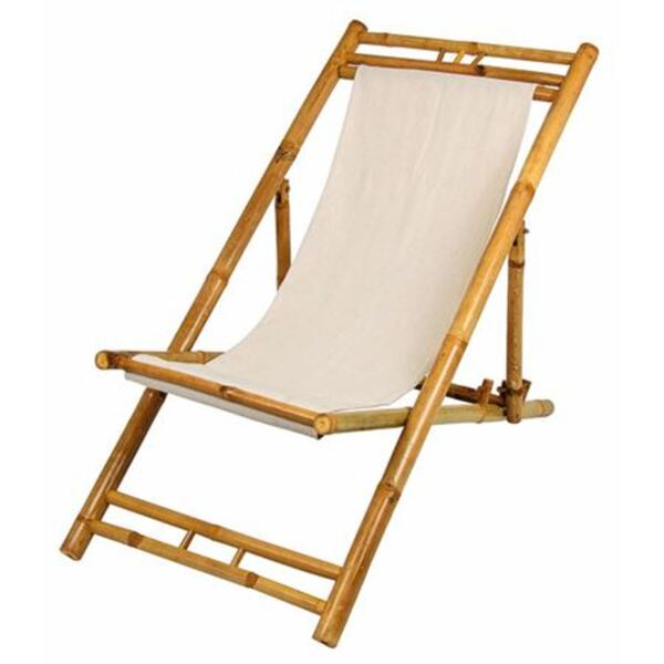 Bamboo Relax-Liegestuhl Terrakotta