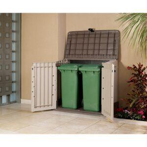 Garten-/Mülltonnenbox für 2 Abfalltonnen (120 Liter)