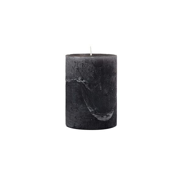 Stumpenkerze, ca D:7,5 x H:10 cm schwarz