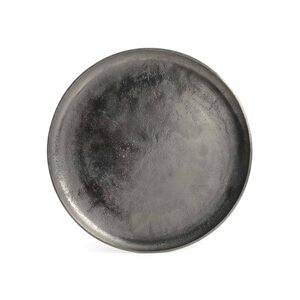 Dekotablett, silber, ca D:34,5 cm