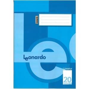 Doppelheft A4 Lineatur 20 - blanko mit Linienblatt - 32 Blatt