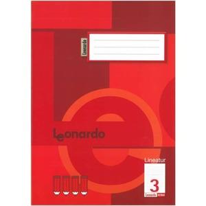 Schulheft Doppelheft DIN A4 - 32 Blatt - liniert - Lineatur 3 - 3. Klasse