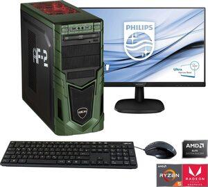 Hyrican »Multimedia PC SET1898« Gaming-PC-Komplettsystem (24 Zoll, AMD Ryzen 5, Radeon RX Vega 11, 8 GB RAM, 480 GB SSD)