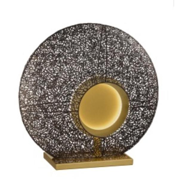 FISCHER & HONSEL LED Tischlampe MINA rostfarbig/goldfarbig