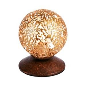 Paul Neuhaus Retrofit Tischlampe GRETA 1-flg rostfarbig/goldfarbig