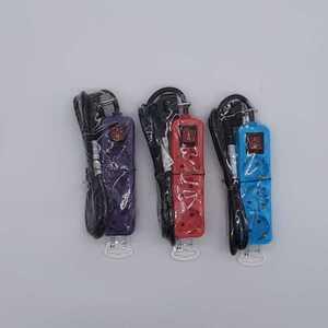 3er Steckdosenleiste mit Kippschalter, verschiedene Farben