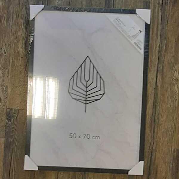 Bilderrahmen, ca. 50 x 70 cm, schwarz